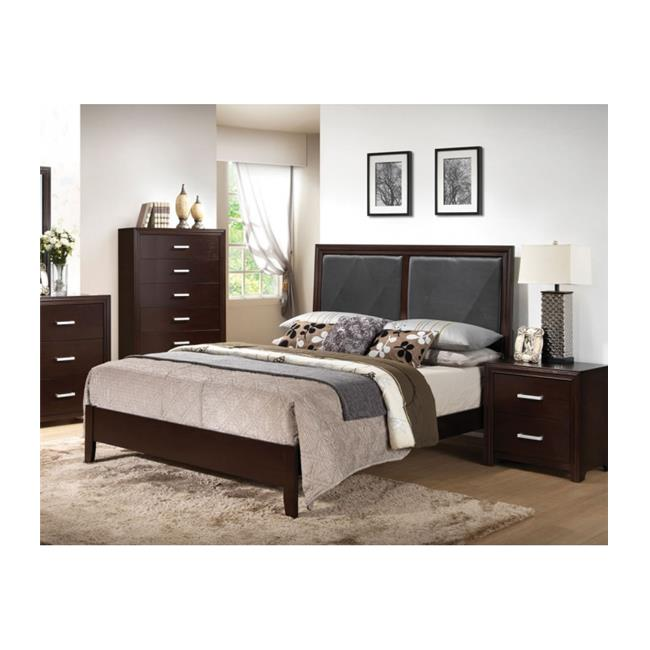 Acme Furniture 21420Q-KIT Ajay Black Queen Size Bed