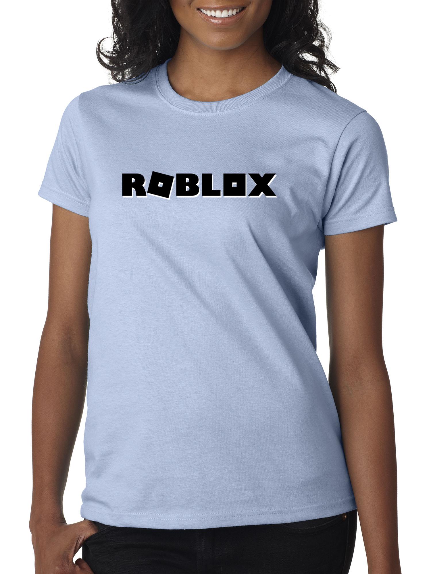 Blue T Shirt Roblox Trendy Usa Trendy Usa 1168 Women S T Shirt Roblox Block Logo Game Accent Large Light Blue Walmart Com