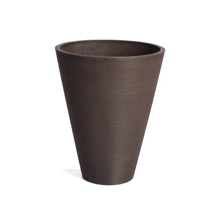 Veradek Kobo Round Planter - Black - 14 in.