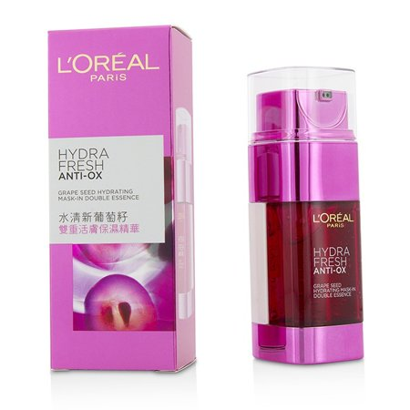 L'Oreal Hydra Fresh Anti-Ox Grape Seed Hydrating Mask-In Double Essence 2x25ml/1.7oz