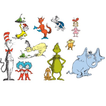 Dr. Seuss Removable Wall Decorations (Dr Seuss Christmas Decorations)