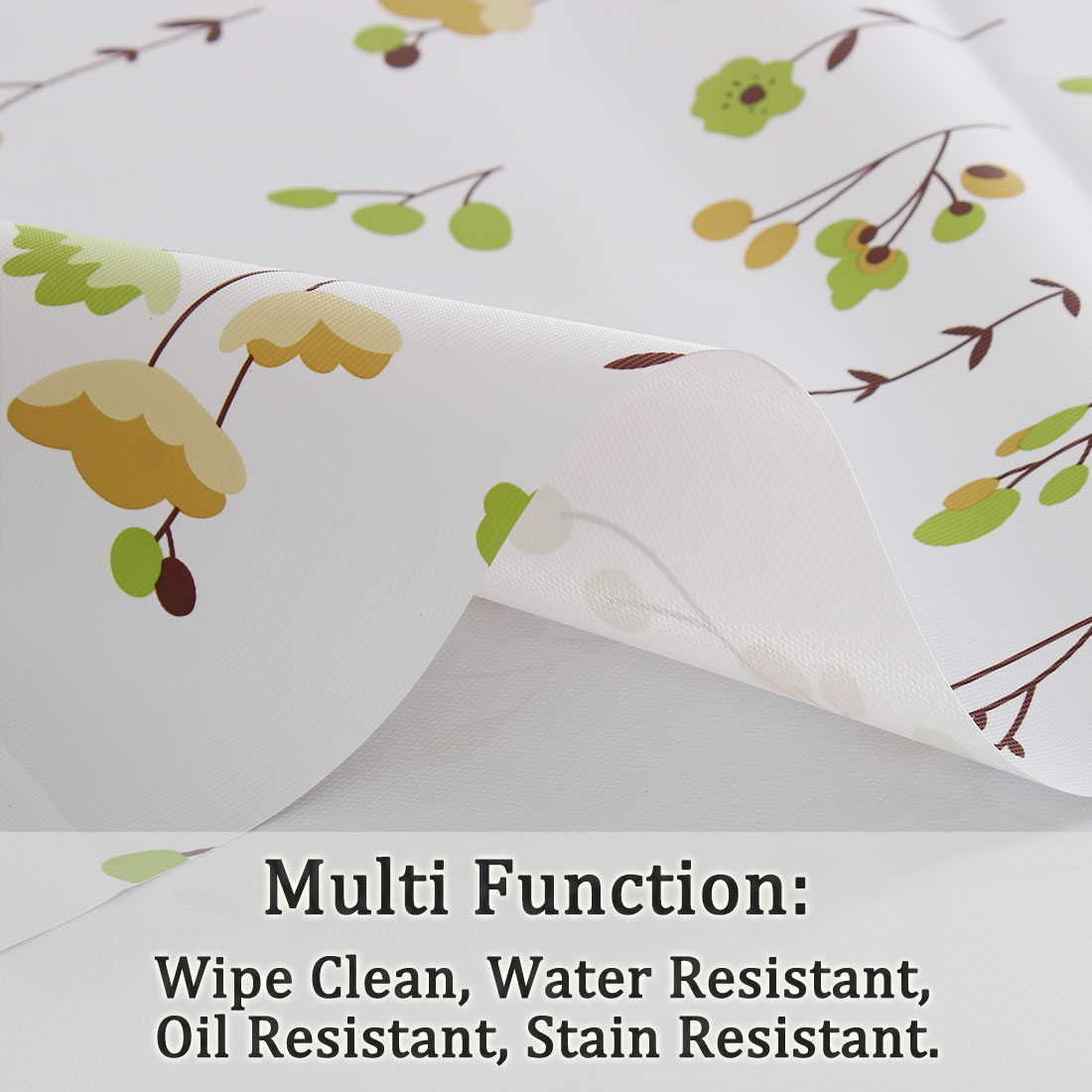"Tablecloth PVC Vinyl Table Cover Oil Water Resistant Table Cloth 54"" x 55"", #1 - image 3 de 7"