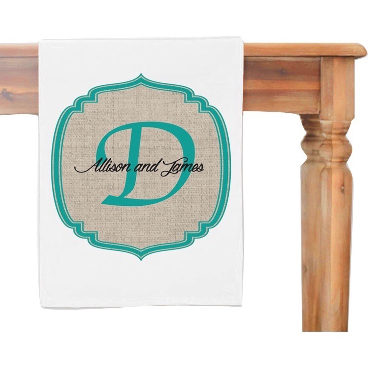 MonogramOnline Couples Personalized Table Runner