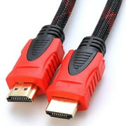 30 FT HDMI Braided Nylon Cable Cord High Speed Premium 1.4 1080P Male HDTV For PS4 PS3 xBox 360 One Nintendo Switch/Wii, HDTV, Blu-Ray LED LCD TV