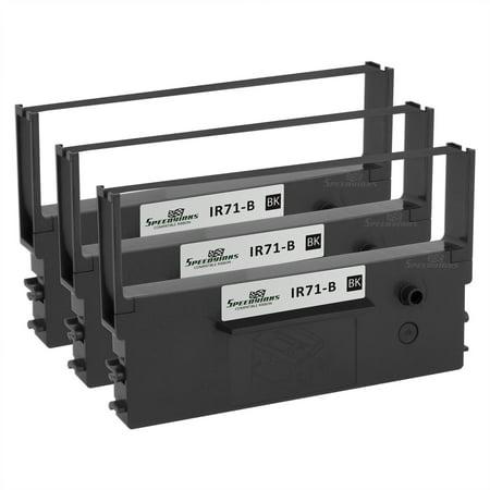 Speedy Inks Compatible Printer Ribbon Cartridge Replacement for Citizen IR71-B (Black, 3-Pack) (Citizen Ribbon Printer Ink)