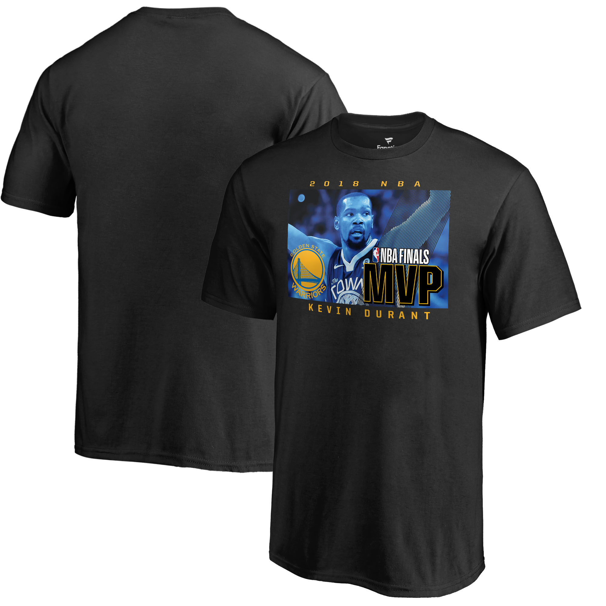 Kevin Durant Golden State Warriors Fanatics Branded Youth 2018 NBA Finals Champions MVP T-Shirt - Black