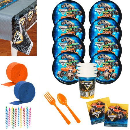 Monster Jam Deluxe Tableware Kit (Serves - Jam Costume