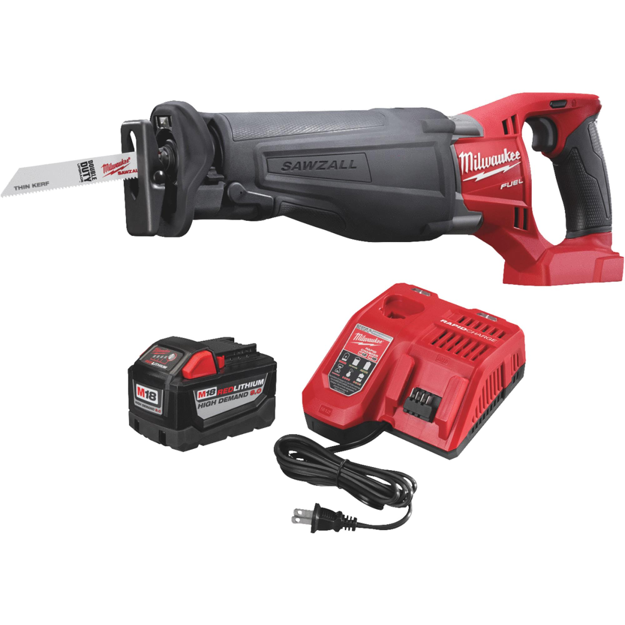 Milwaukee Sawzall M18 FUEL Lithium-Ion Brushless HD Cordless Reciprocating Saw Kit by Milwaukee Electric Tool