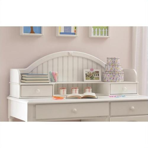 Desk Hutch With Open Display Space And Two Drawers