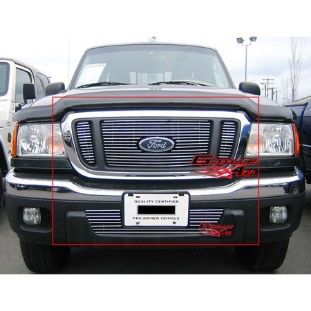 Compatible with 2004-2005 Ford Ranger FX4 4WD Billet Grille Combo -