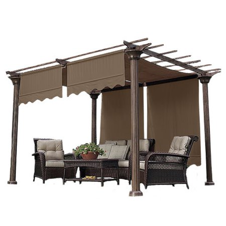 p bay for hampton thumb riplock pergola canopy winds garden replacement