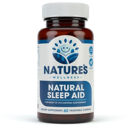 Premium Sleep Aid for Adults - Effective - Non Habit Forming - Natural Relief - Wake Up Feeling Refreshed - Proprietary Blend with Melatonin, Tryptophan, Magnesium, Valerian, Chamomile & More - 60 Veg