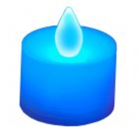 Club Pack of 12 LED Lighted Battery Operated Blue Tea Light Candles