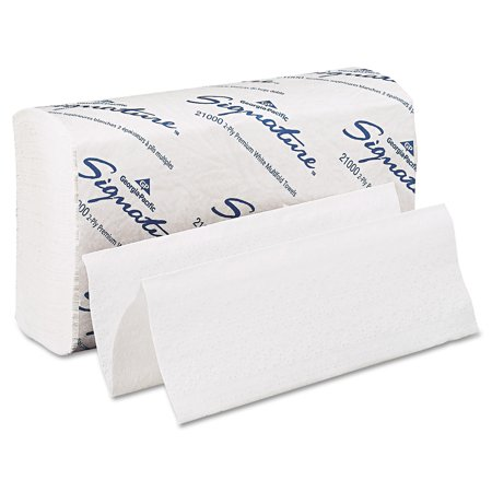 Georgia Pacific Signature  White 2 Ply Premium Multifold Paper Towels  21000  125 Towels Per Pack  16 Packs Per Case