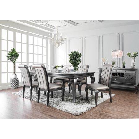 - Furniture of America Tara 9-Piece Silver Dining Table Set