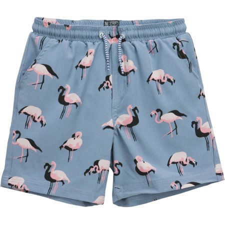 9564ef8d94 No Retreat - Boys Flamingo Swim Short - Walmart.com