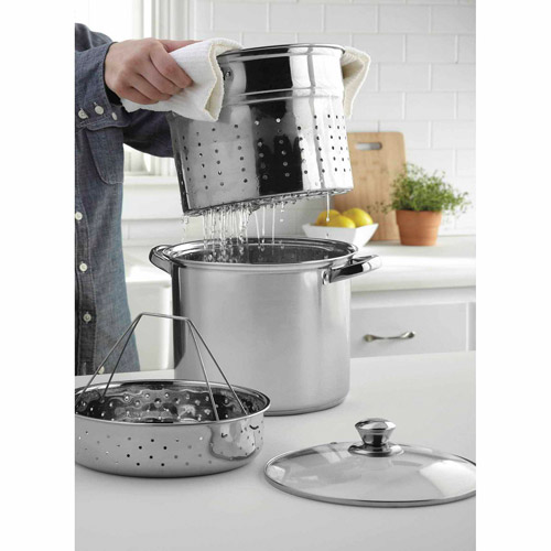 Mainstays Stainless Steel 8-Quart Steamer Set