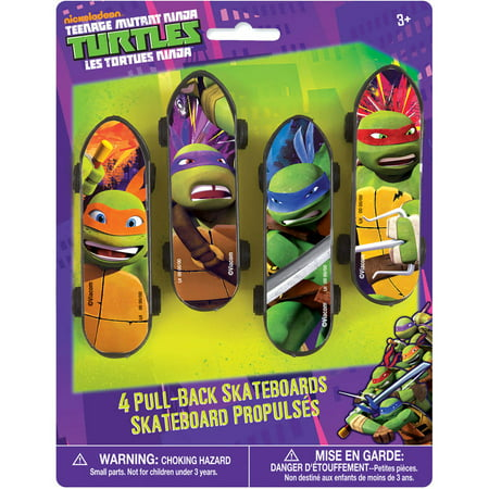 Teenage Mutant Ninja Turtles Skateboard Party Favors, 4ct ()
