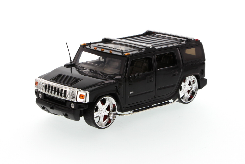 Hummer H2 SUV, Black Jada Toys Dub City 50549 1 24 scale Diecast Model Toy Car (Brand but... by Jada