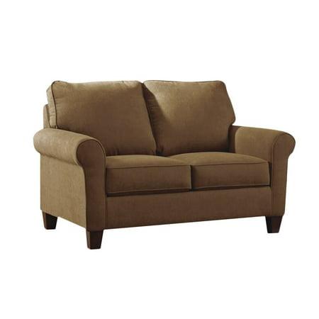 ashley zeth fabric twin size sleeper sofa in denim. Black Bedroom Furniture Sets. Home Design Ideas