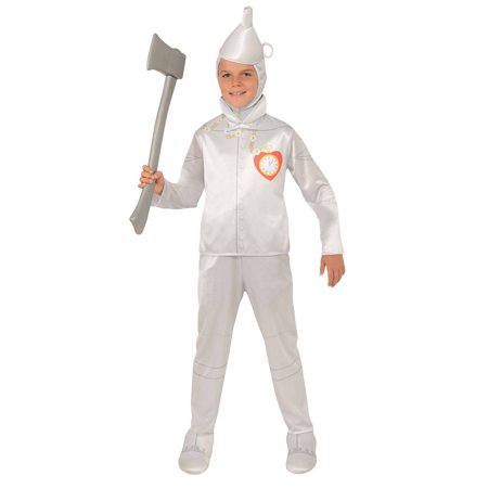 Child Boys Licensed Wizard of Oz Movie Tin Man Silver Jumpsuit Halloween Costume