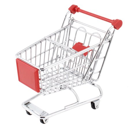 mini shopping cart model toy container room decoration red. Black Bedroom Furniture Sets. Home Design Ideas
