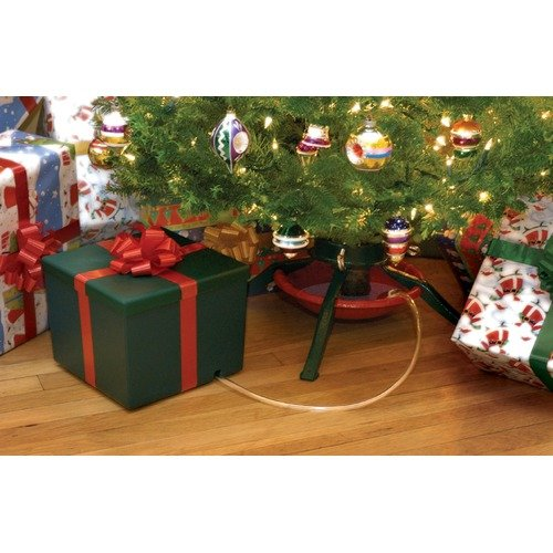 Evergreen Seasons Large Green Square Present with Red Bow 2.7 Gallon Watering System