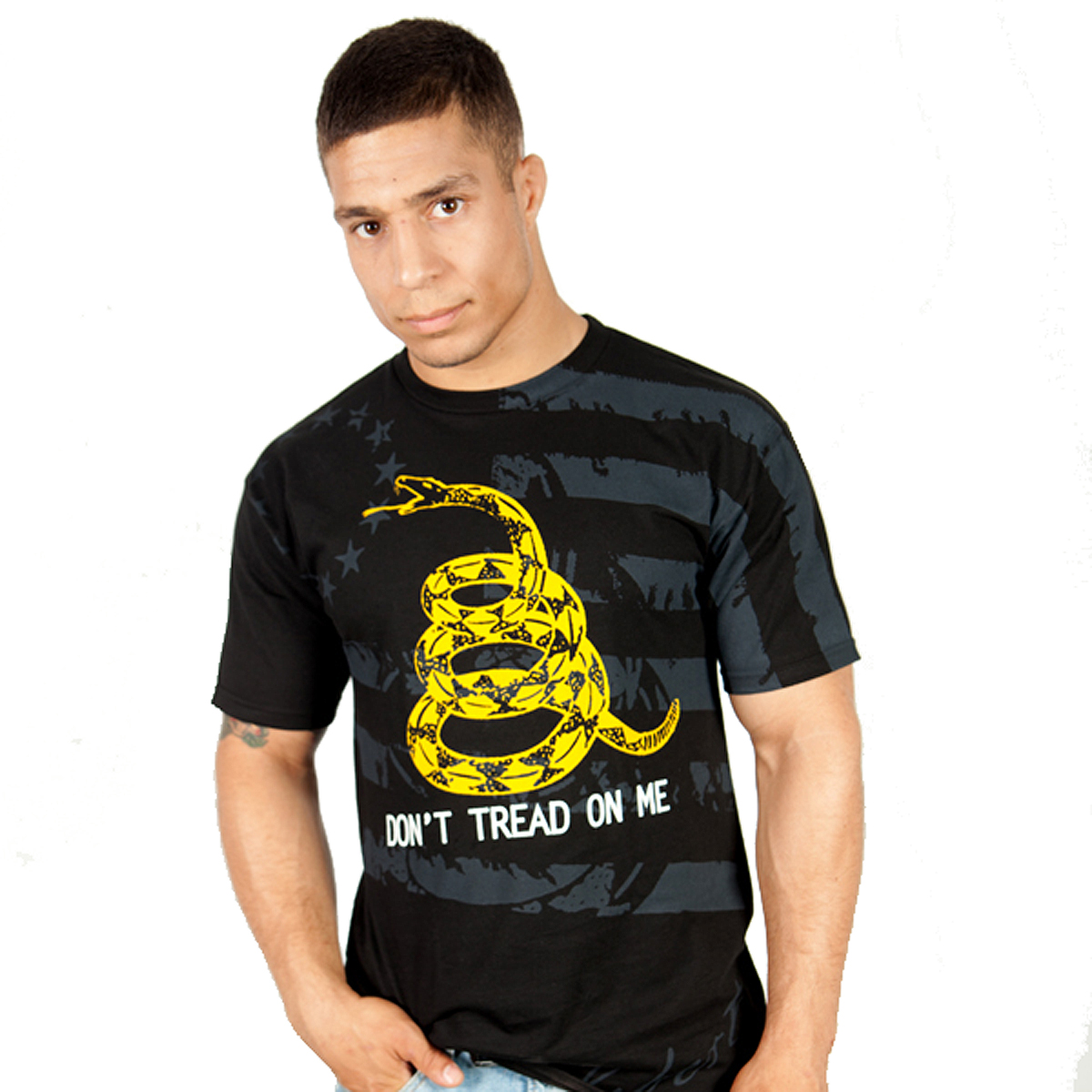 Ranger Up Don't Tread On Me T-Shirt - Black