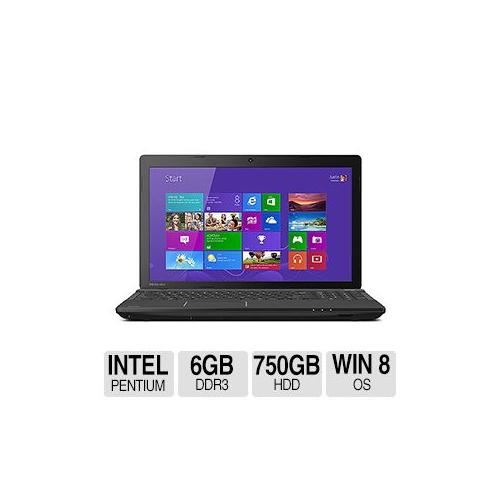 "Toshiba Satellite C55-A5281 Intel Pentium 6GB Memory 750GB HDD 15.6"" Notebook Windows 8 64-bit - C55-A5281"