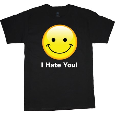I Hate You Smiley Face Funny T-shirt Men's Big and Tall Graphic Tee