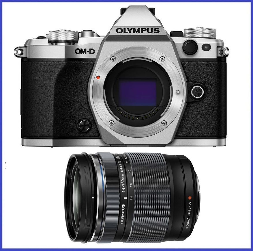 Olympus OM-D E-M5 Mark II Silver Digital Camera with 14-150mm f 4-5.6 II Lens by Olympus