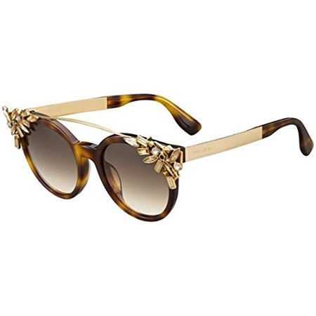 Jimmy Choo Vivy/S 0BHZ Havana Rose Gold JD brown gradient lens (Jimmy Choo Crystal Sunglasses)