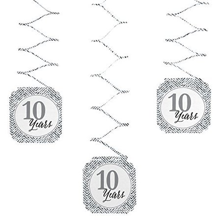 We Still Do - 10th Wedding Anniversary Party Hanging Decorations - 6 Count