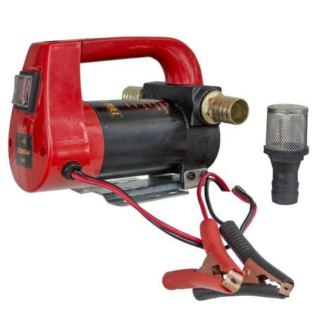High Output 12 Volt Pump - 10 GPH High Flow Rate 12 Volt Portable 155 Watts Diesel Oil Pump