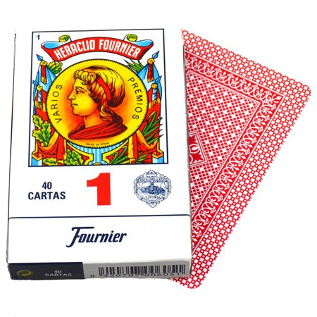 Card Deck Case (Deck Red 40 Fournier Spanish Playing Cards #1 Case Baraja Española Caja)