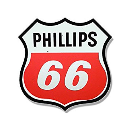 Vintage PHILLIPS 66 Gas Station Logo Shaped Sticker Decal (motorcycle car gasoline) 4 x 4 inch