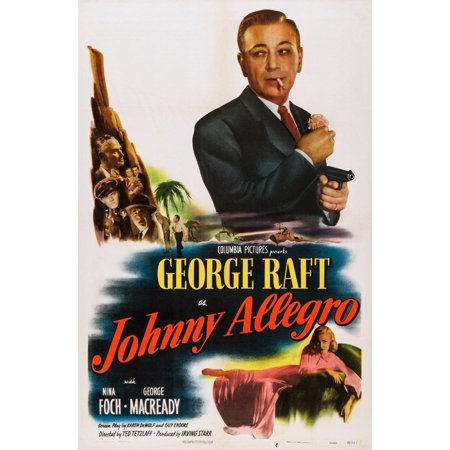 Johnny Allegro U Stretched Canvas -  (24 x 36)