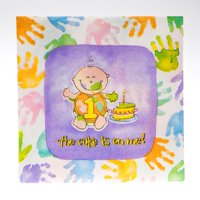 First Birthday Beverage Napkins