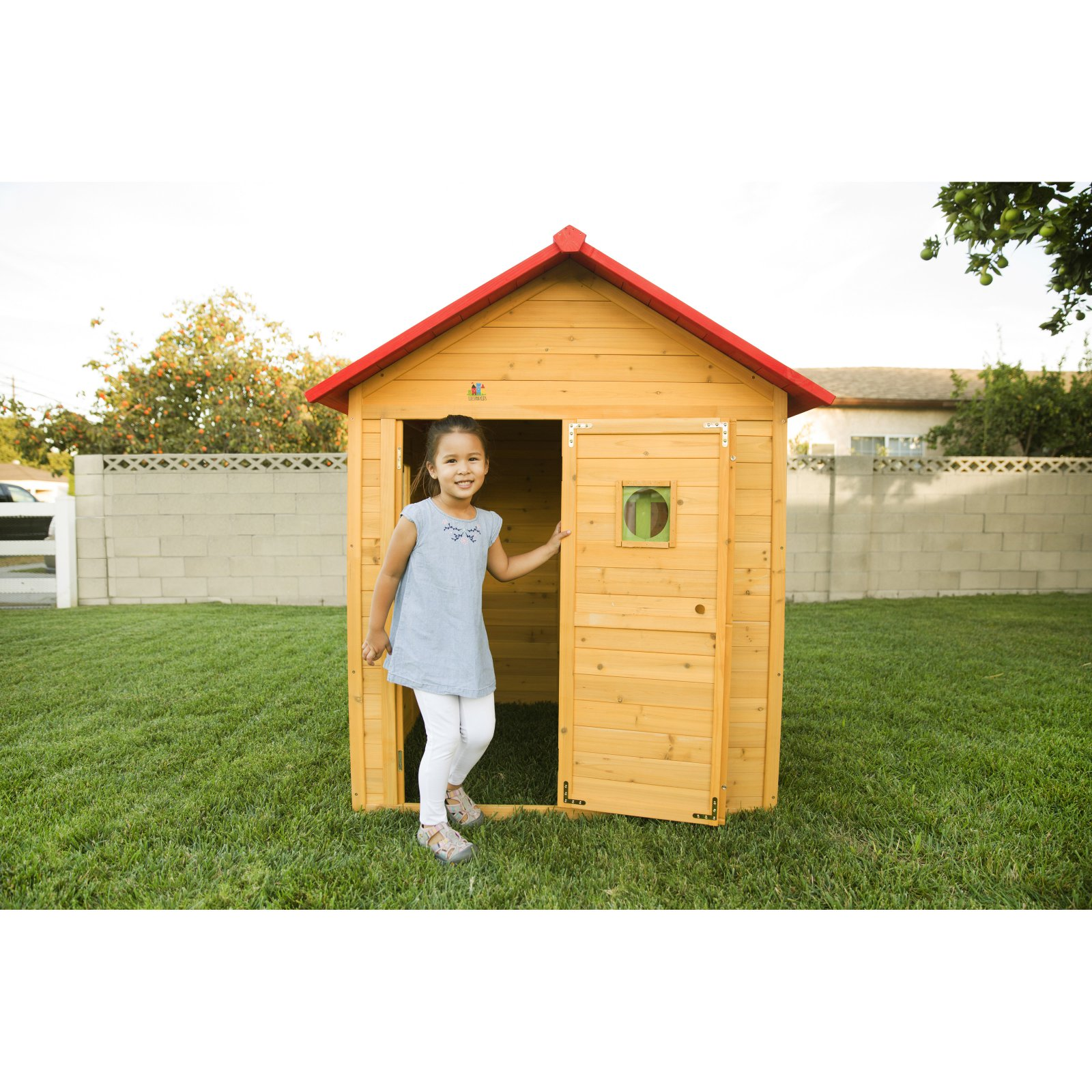 Outward Play Badger Cubby Wooden Playhouse