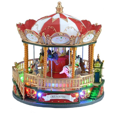 Holiday Time Carousel Decoration](Holiday Door Decorations)