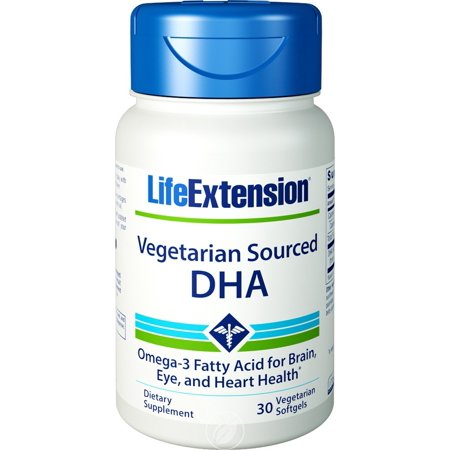 (Life extension Vegetarian Sourced Dha 200 Mg 30 Softgels)