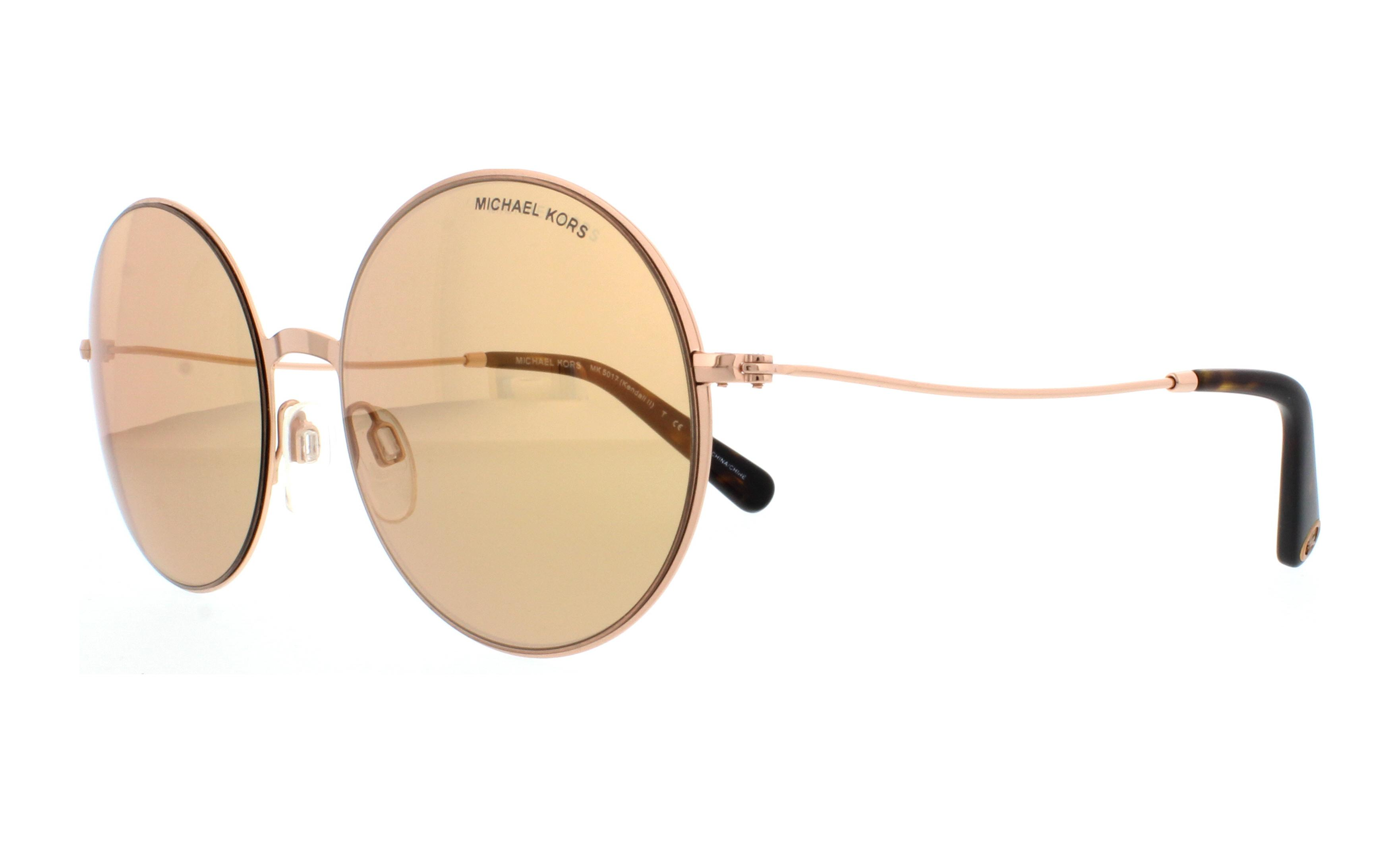 1cb04ce953d9f Michael Kors - Michael Kors Women s Mirrored Kendall Ii MK5017-100125-55  Silver Round Sunglasses - Walmart.com