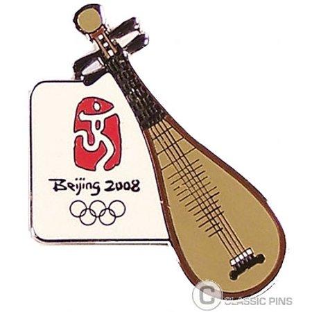 Beijing 2008 Olympics Pipa Chinese Lute (Coke Olympic Pin)