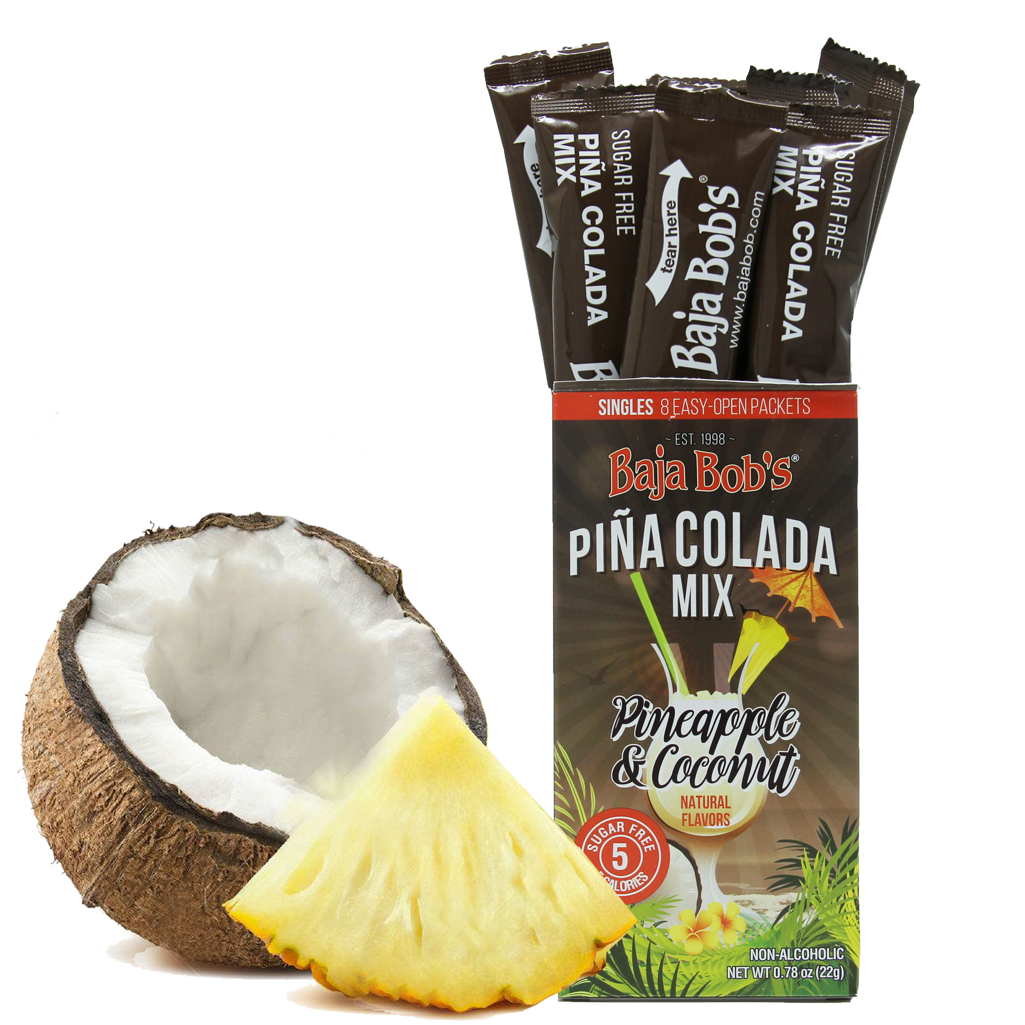 Baja Bob's Sugar Free Pina Colada Cocktail Mix Singles by Baja Bob's