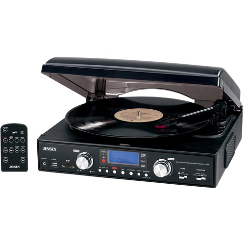 Jensen JTA-460 3-Speed Stereo Turntable with MP3 Encoding System and AM/FM Stereo Radio