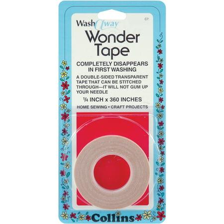 Collins Wash Away Wonder Tape 1/4