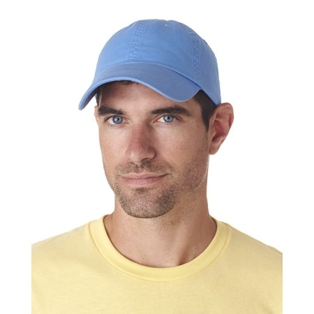 UltraClub 8102 Adult Classic Cut Chino Cotton Twill Unconstructed Cap - Light Blue - One Size