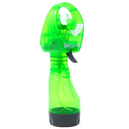 Retailery Portable Battery Operated Water Misting Cooling Fan Spray Bottle, - Battery Operated Fan And Light