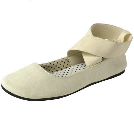Alpine Swiss Peony Womens Ballet Flats Elastic Ankle Strap Shoes Slip On Loafers Flats Loafers Slip
