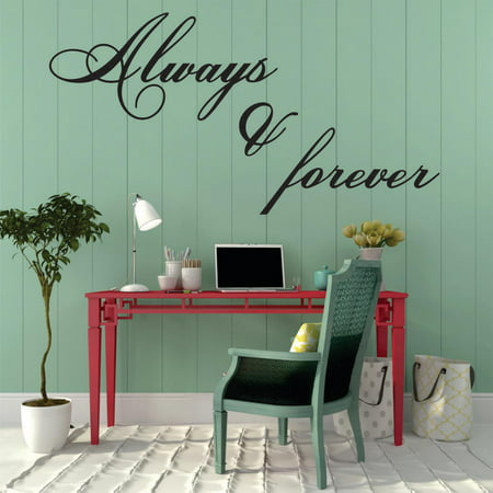 Decal Wall Sticker   Always   Forever Love Quote 16X24 Inches